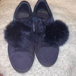 Suede puma sneakers with pom-Pom